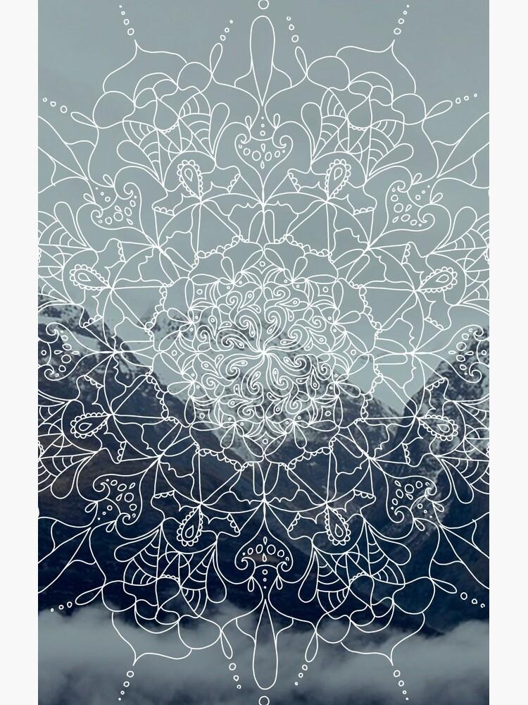 Berg Mandala von krisdrawsthings
