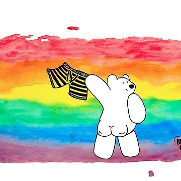 Bare Bum Bear - Gay Pride by BearlyGoin