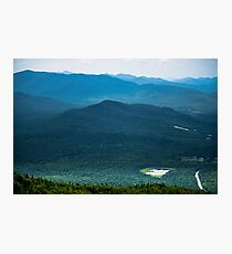 Adirondack greens - mountains lakes nature Photographic Print