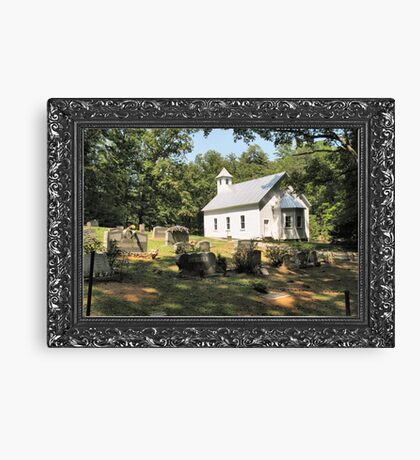 """Cades Cove Missionary Baptist Church"" ... with a canvas and framed presentation, for prints and products Canvas Print"