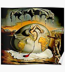 ENFANTE GEOPOLITIQUE OBSERVANTE: Salvador Dali Gemälde Drucken Poster