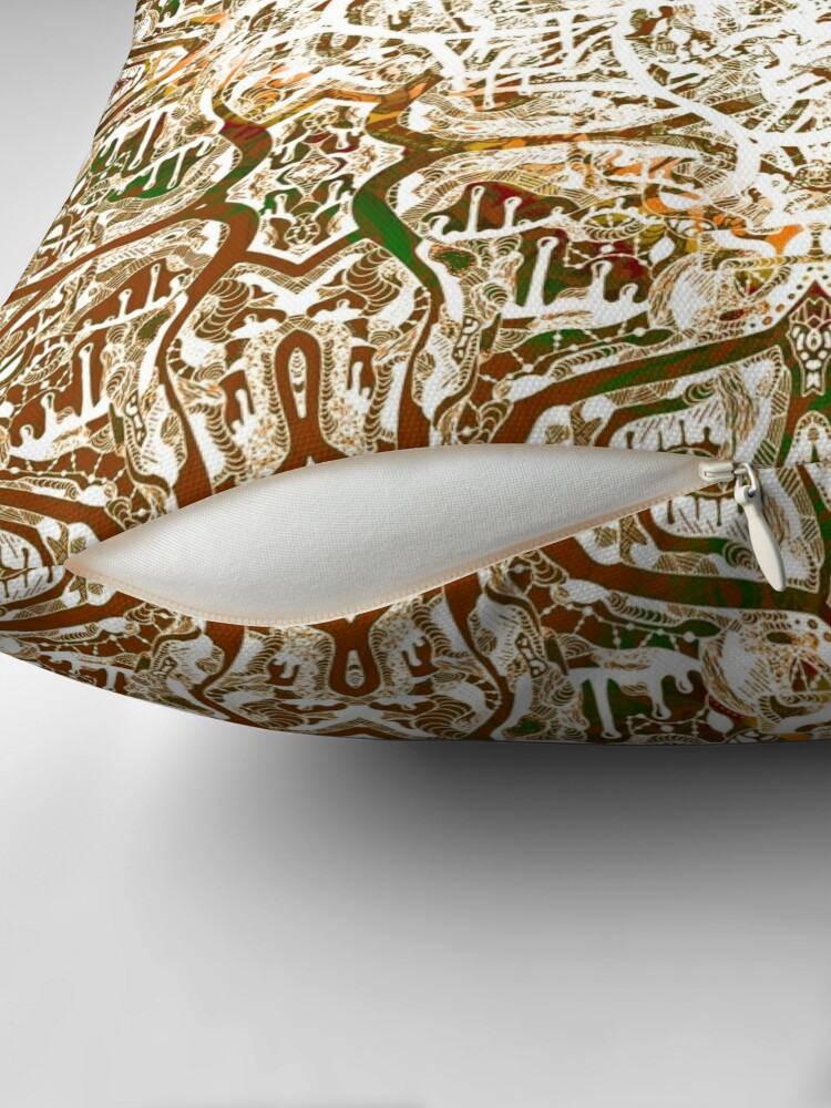 Alternate view of Roots Deep Within (Gold) Throw Pillow