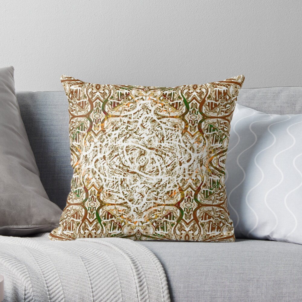 Roots Deep Within (Gold) Throw Pillow