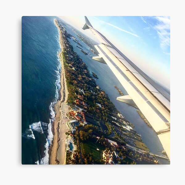 Long Island view from a Plane Metal Print