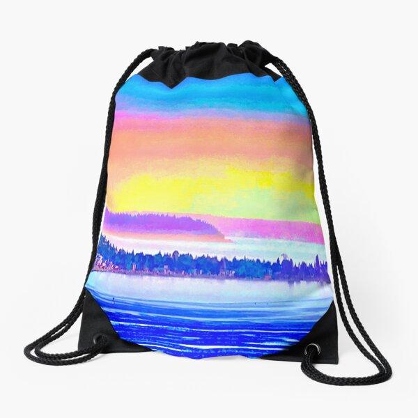 Pastel Sunset Drawstring Bag