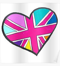 shes so bright union jack heart Poster
