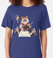 Meowscular Chef and his crew Slim Fit T-Shirt