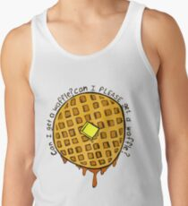 can i PLEASE get a waffle Men's Tank Top