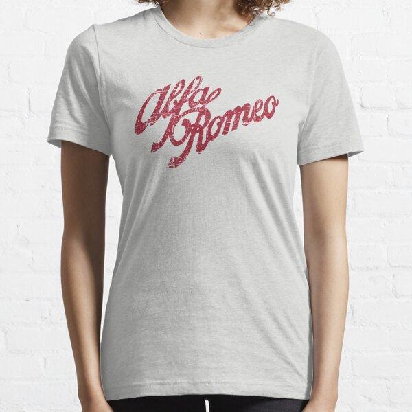 Alfa Romeo Script - Look vieilli classique T-shirt essentiel