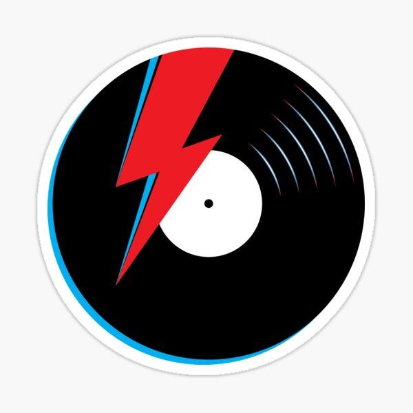 Ziggy Stardust Record Sticker
