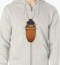 Brindle the Hissing Roach Zipped Hoodie
