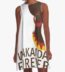 Wakanda Forever  A-Line Dress