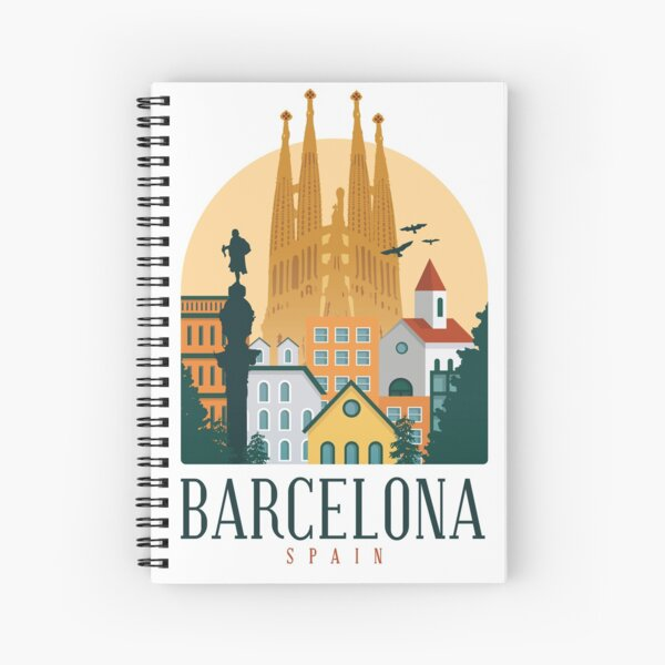BARCELONA SPAIN  Spiral Notebook