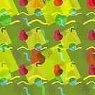Neo Memphis Fun Pattern Green by SquibbleDesign