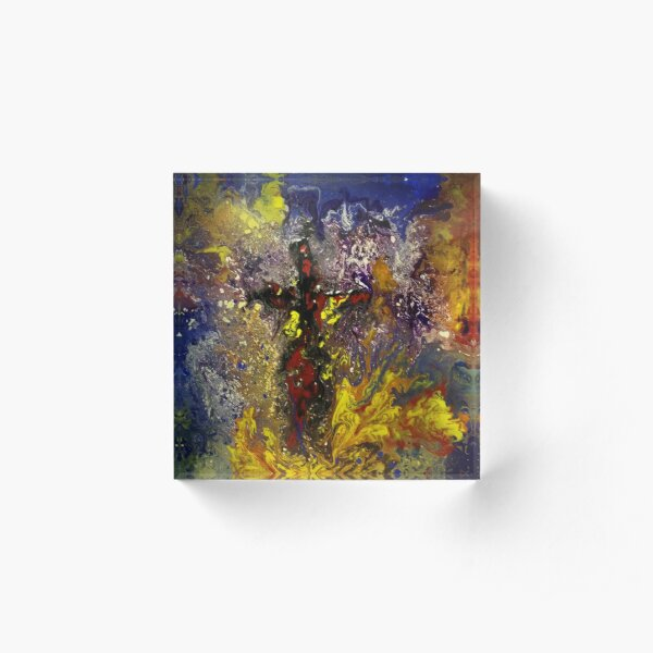 Holy Place is a Christian Abstract Art Painting Acrylic Block