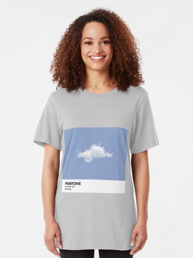 Vista alternativa de Camiseta ajustada Serenity Blue Pantone Cloud