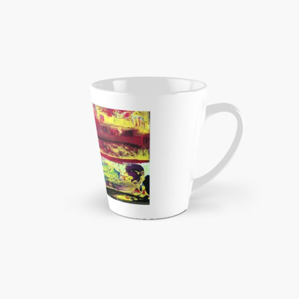 Musical Abstract Painting With a Horn Player Tall Mug