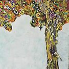 Abstract Tree Painting Called Strange Fruit by Darryl Green