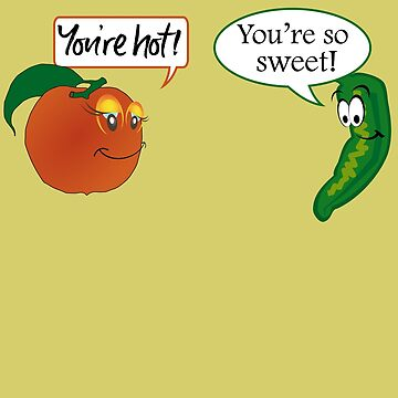 Funny Peach and Jalapeno Flirting by orylinapparel