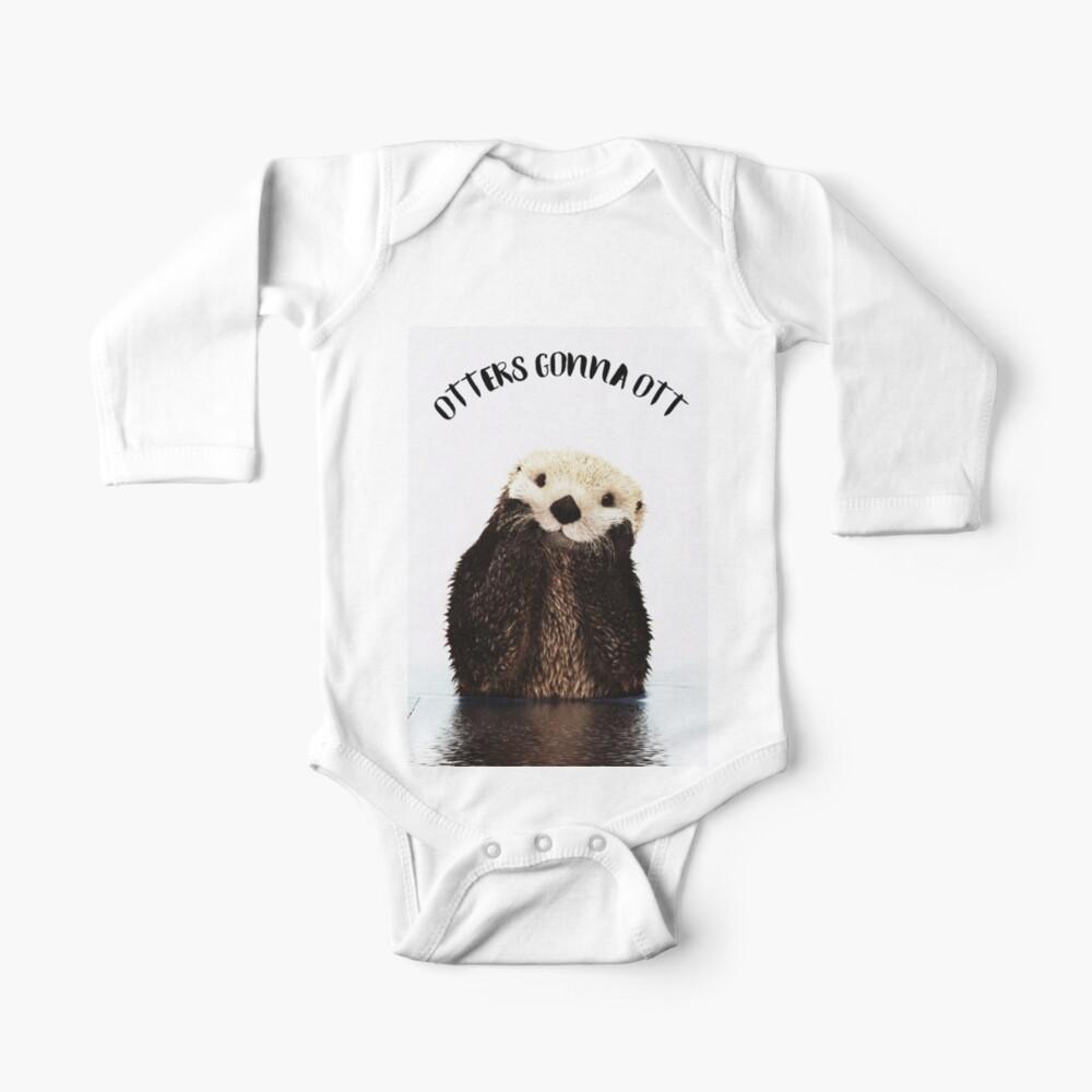 Otters Gonna Ott Baby One-Piece