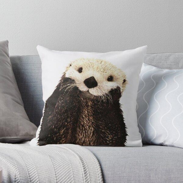 Otters Gonna Ott Throw Pillow