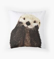 Otters Gonna Ott Throw Pillow