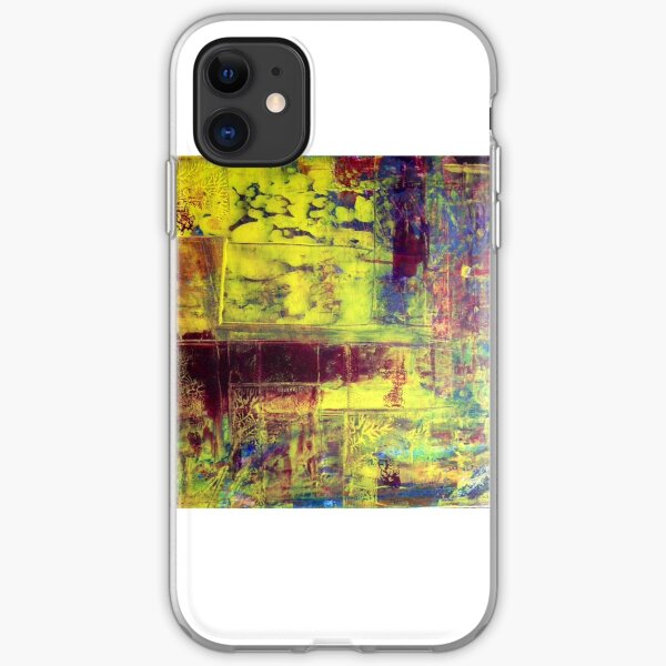 Richter Style Original Abstract Canvas Painting For Sale iPhone Soft Case