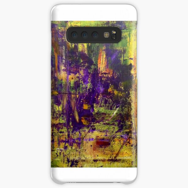 Abstract Original Purple Oil Painting Available  Samsung Galaxy Snap Case