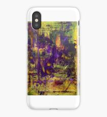 Abstract Original Purple Oil Painting Available  iPhone Case/Skin