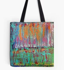Colorful Original Abstract Painting Tote Bag