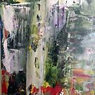 Abstract Original Painting With Old World Feel by Darryl Green