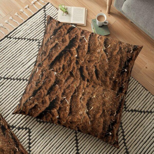 Brown Sheep Wool  Floor Pillow