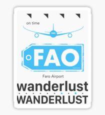 FAO Faro airport Sticker