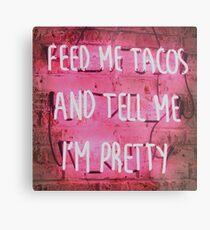 Tacos Leuchtreklame Metalldruck