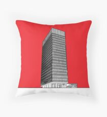 Sheffield University Arts tower - red Throw Pillow