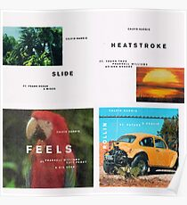 Calvin Harris Slide, Hitzschlag, fühlt sich, Rollin Poster