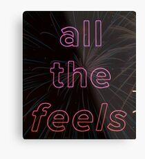 Das Gefühl Neon Zeichen Metalldruck