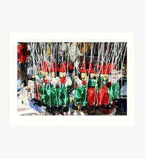 Pinnochio Marionettes Art Print