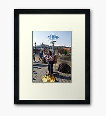 Photo of Street Musician on The Charles Bridge Prague Framed Print