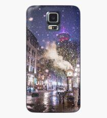Gastown Vancouver Schnee Hülle & Klebefolie für Samsung Galaxy