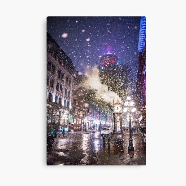 Gastown Vancouver Snow Canvas Print