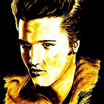 Elvis in Orange-Gold and Black by GittaG74