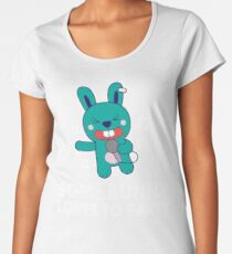Some Bunny Loves To Party. Funny Party Shirts for Karaoke Singing Rabbit Lovers Women's Premium T-Shirt