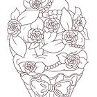 Rose Cupcake Lineart - Coloring Book Style  by aidadaism