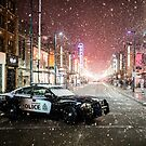 Vancouver Police Downtown Snow by Luke Baker