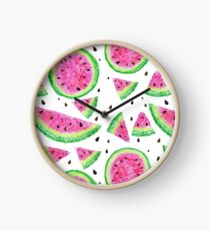 Hand drawn juicy watermelon pattern Clock