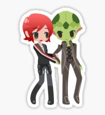 Mass Effect - Shepard and Thane [Commission] Sticker