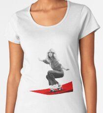 Farrah Fawcett Skateboard Women's Premium T-Shirt
