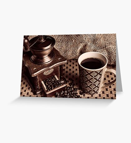 Coffee Break Greeting Card