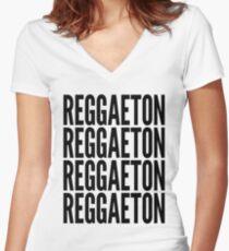 Reggaeton music 2 Women's Fitted V-Neck T-Shirt